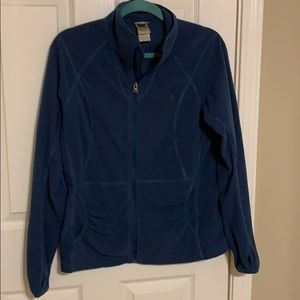 North Face Blue Zip-Up Fleece | Size Large